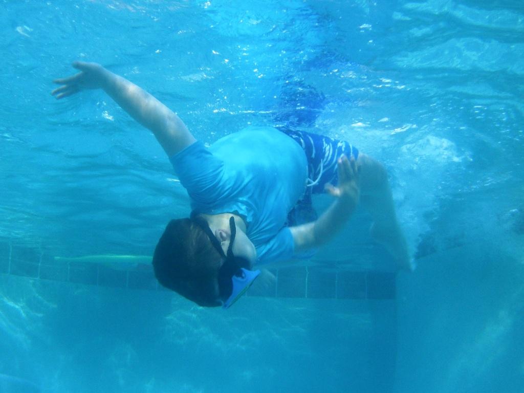 CJB twisting underwater