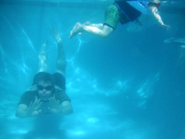 PJB swimming under